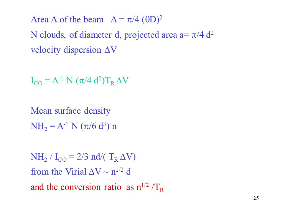 Area A of the beam A = /4 (D)2