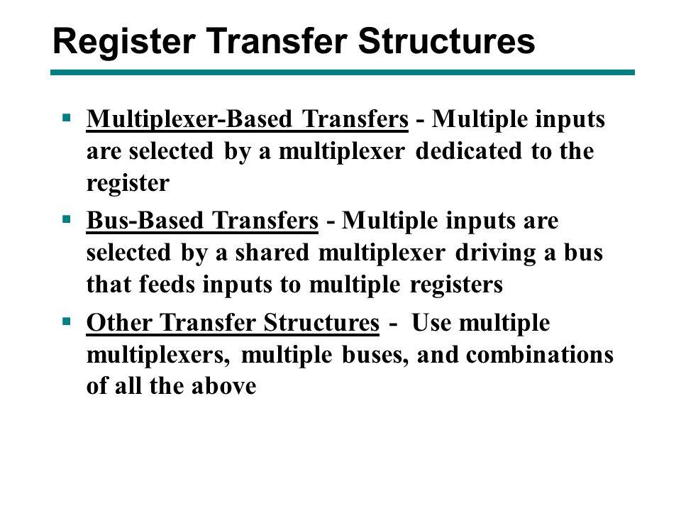 Register Transfer Structures