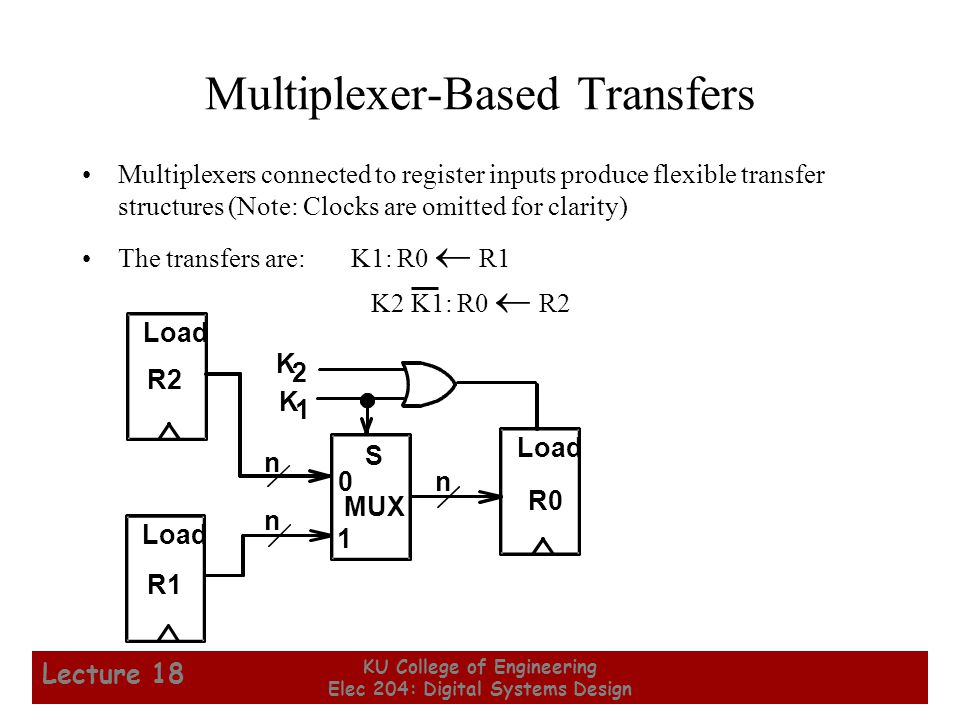 Multiplexer-Based Transfers