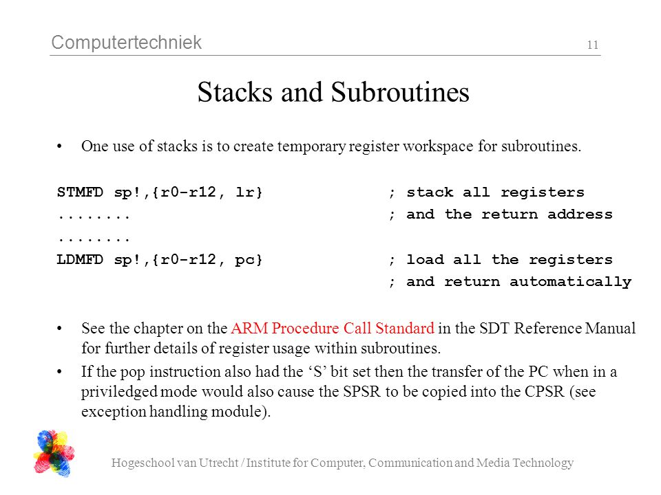 Stacks and Subroutines
