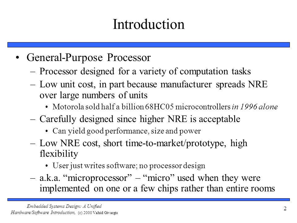 Introduction General-Purpose Processor