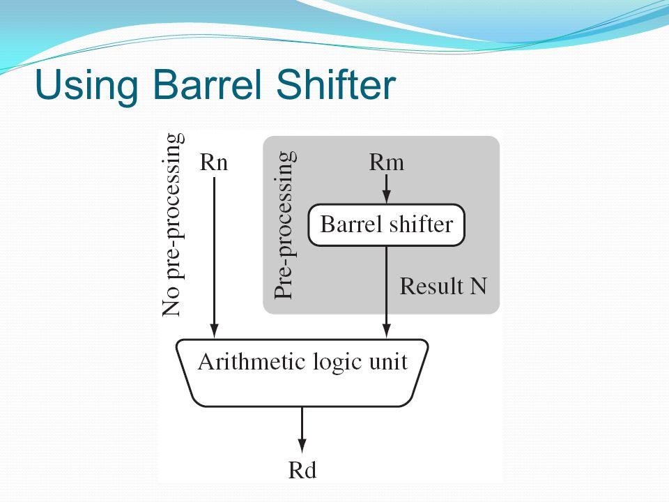 Using Barrel Shifter