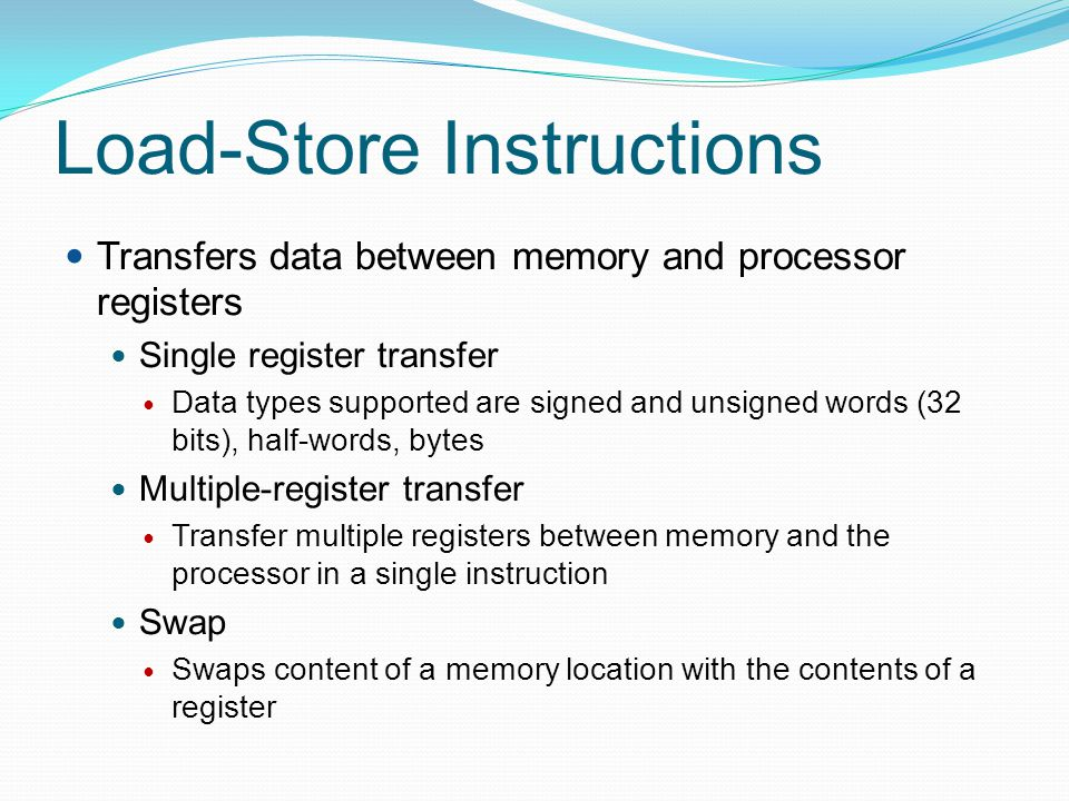 Load-Store Instructions