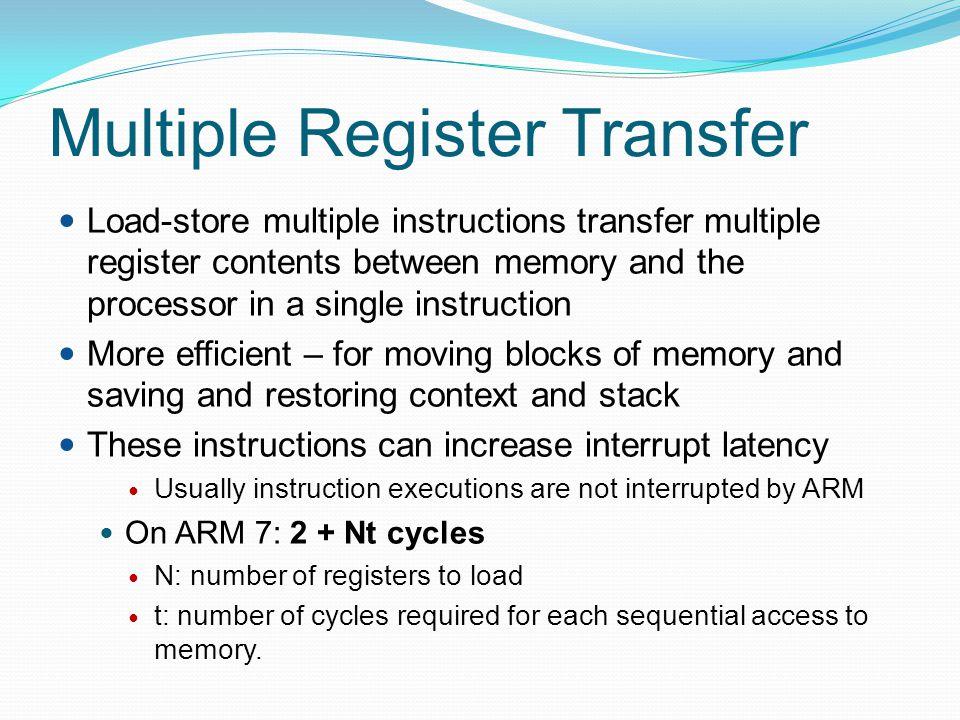Multiple Register Transfer