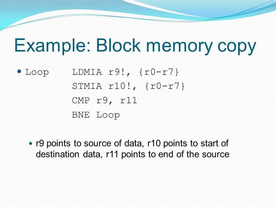 Example: Block memory copy