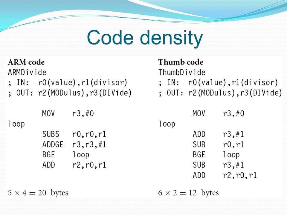 Code density
