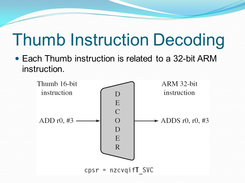 Thumb Instruction Decoding