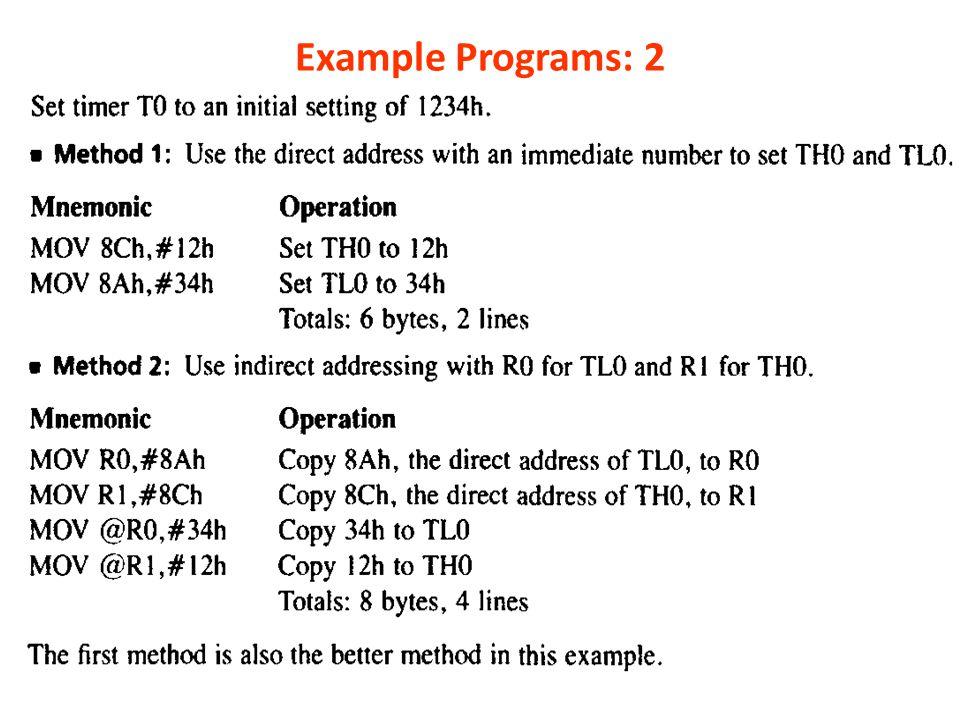 Example Programs: 2