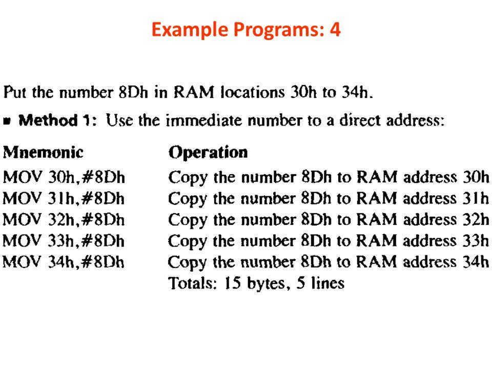 Example Programs: 4