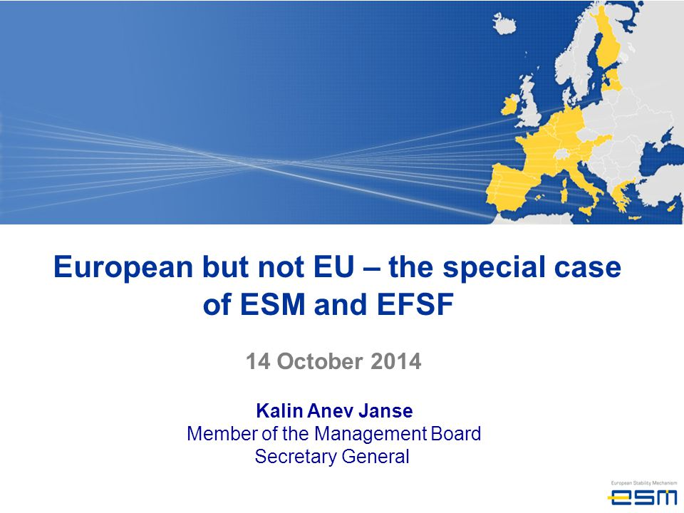 European but not EU – the special case