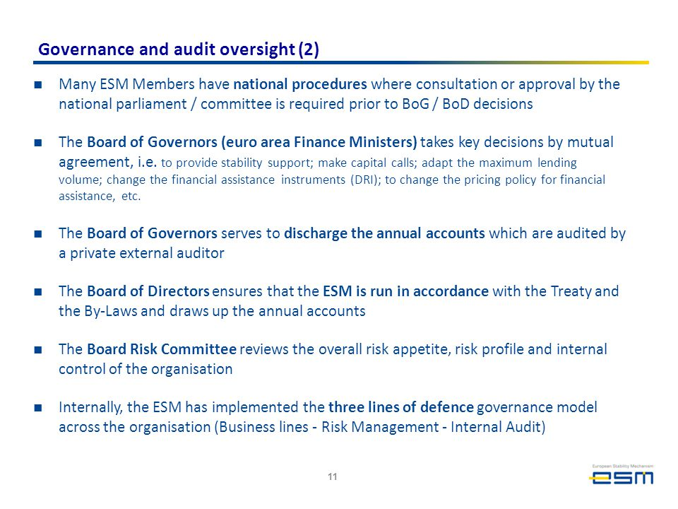 Governance and audit oversight (2)