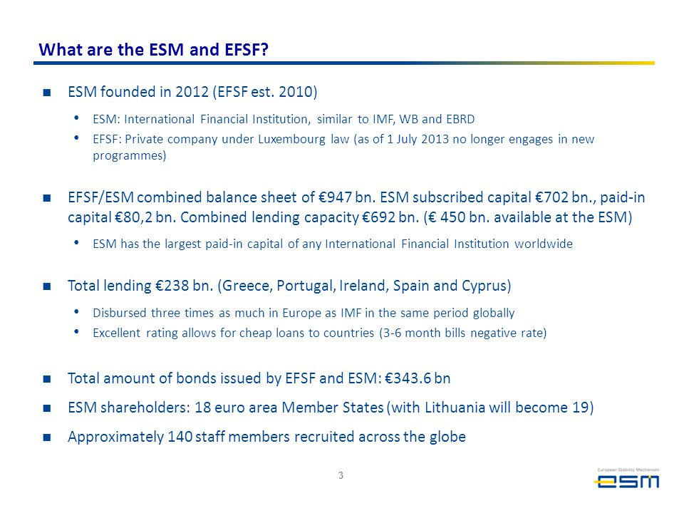 What are the ESM and EFSF