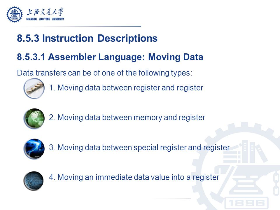 8.5.3 Instruction Descriptions