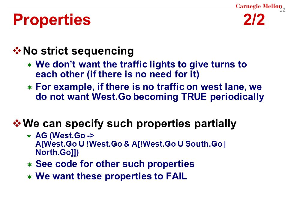 Properties 2/2 No strict sequencing
