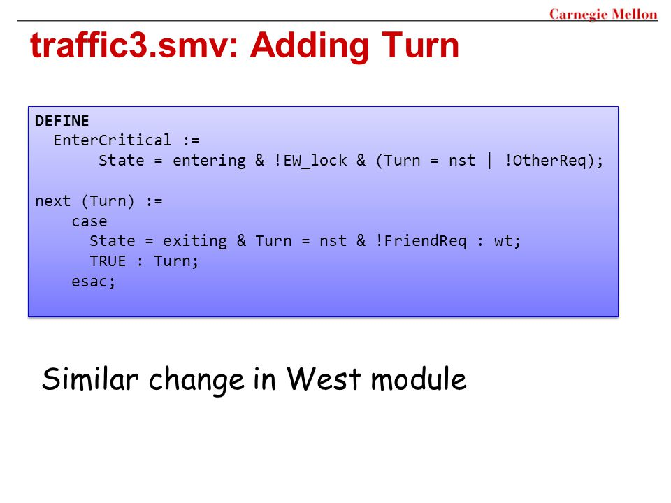 traffic3.smv: Adding Turn