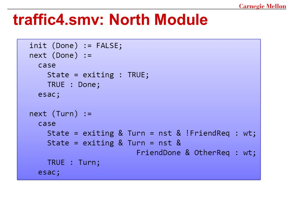 traffic4.smv: North Module