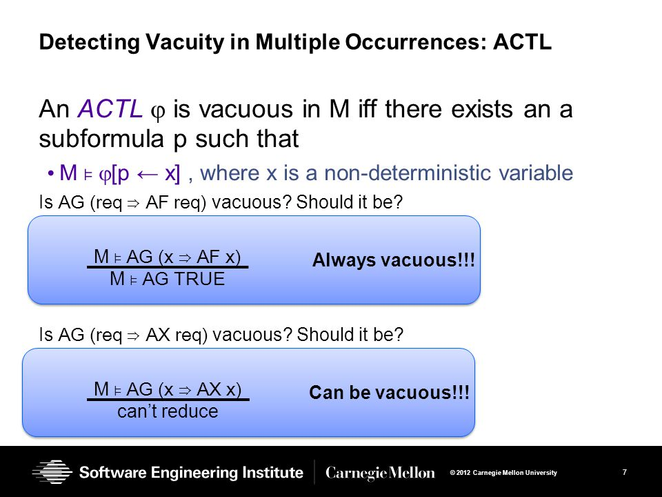 Detecting Vacuity in Multiple Occurrences: ACTL