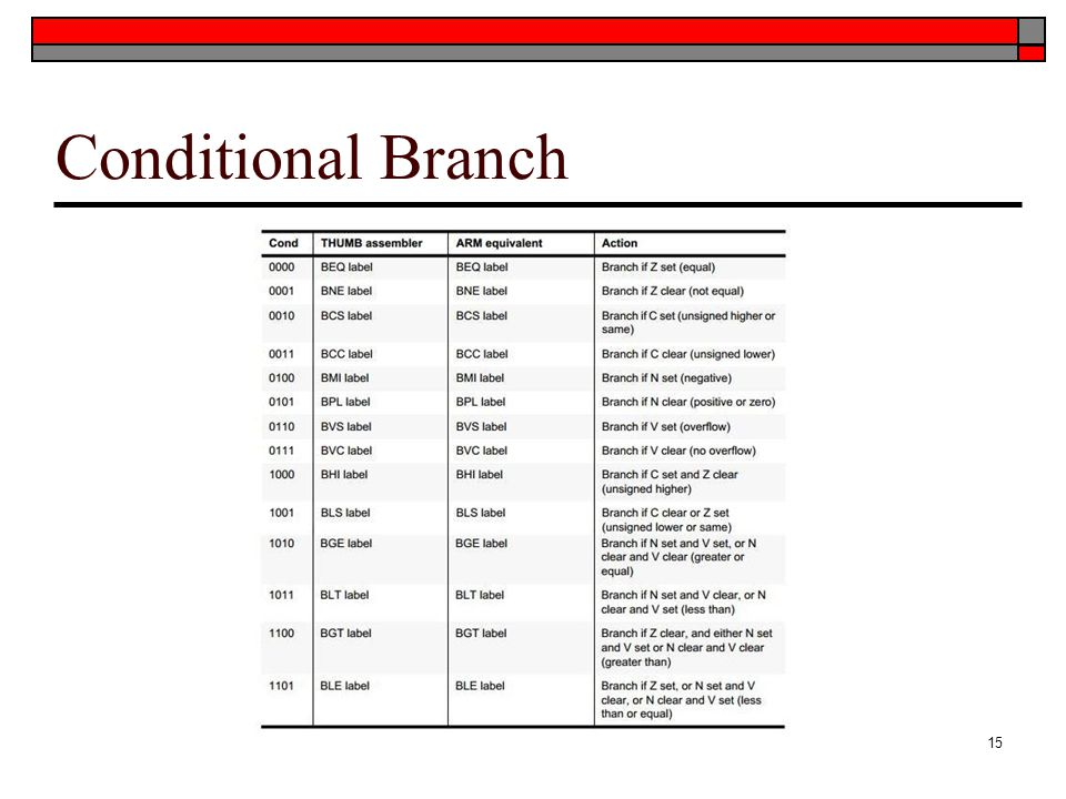 Conditional Branch