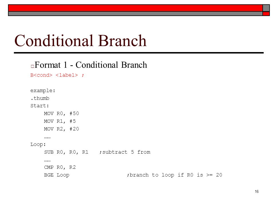 Conditional Branch Format 1 - Conditional Branch