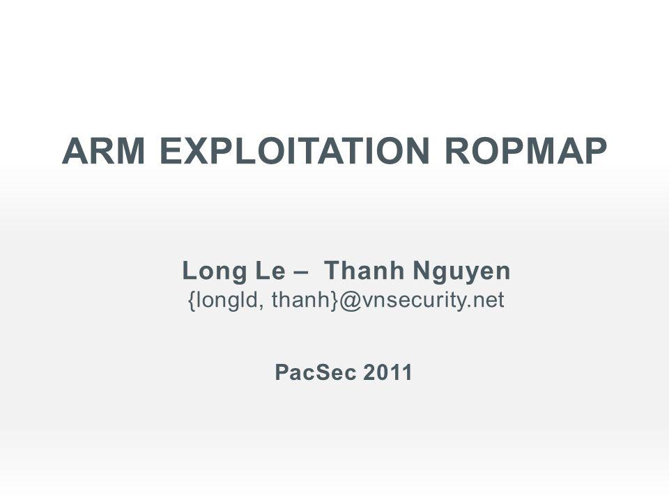 ARM Exploitation ropmap