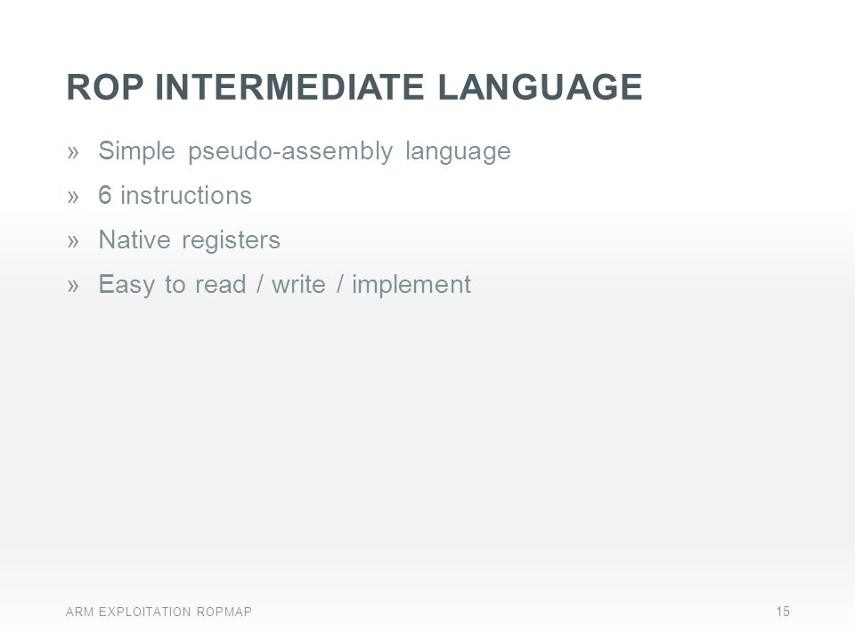 rop intermediate LANGUAGE