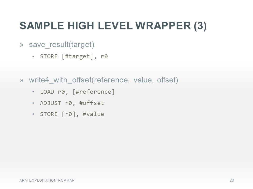 Sample HIGH level wrapper (3)