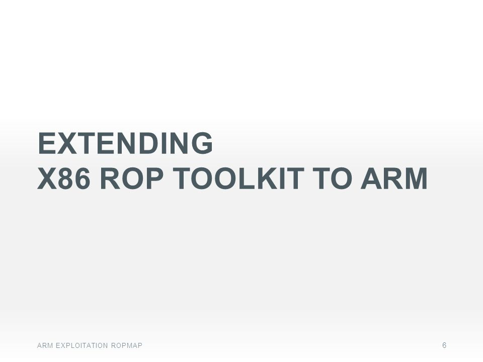 Extending x86 ROP toolkit to ARM