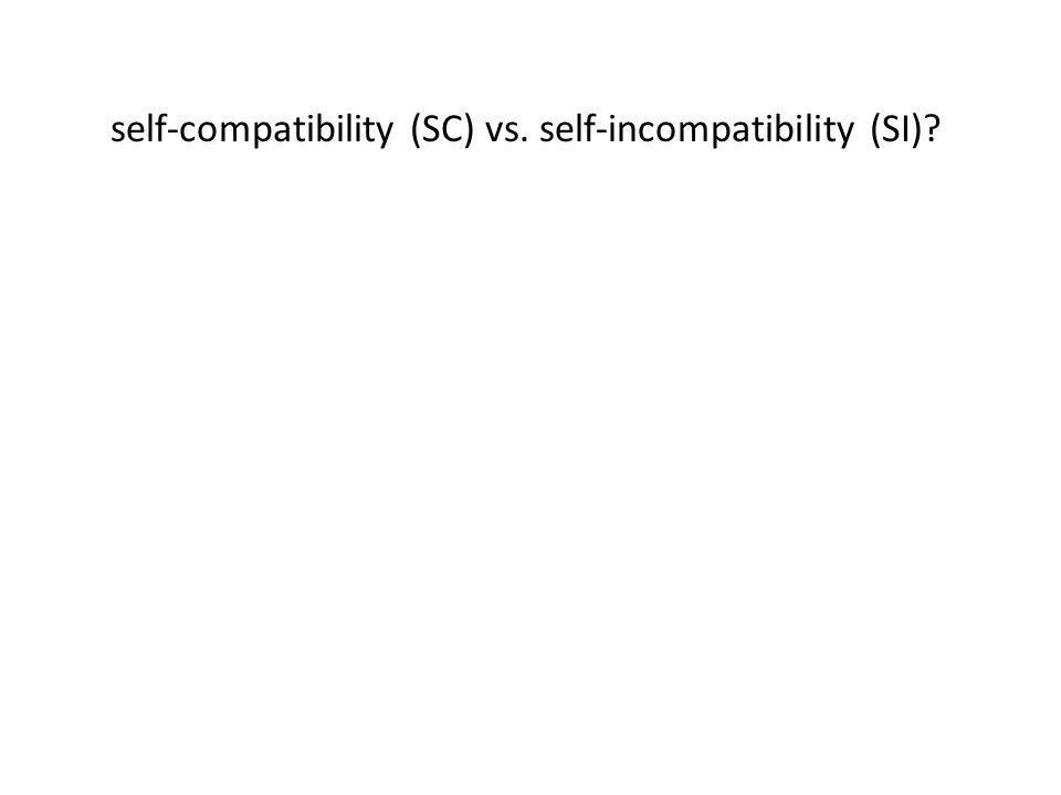 self-compatibility (SC) vs. self-incompatibility (SI)
