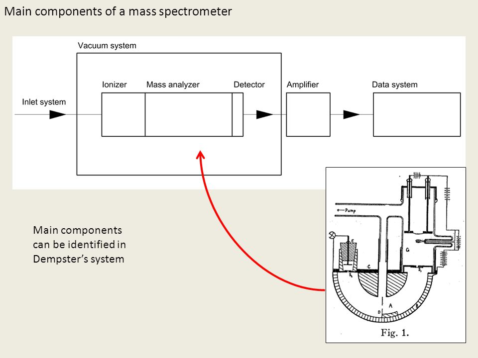 Main components of a mass spectrometer