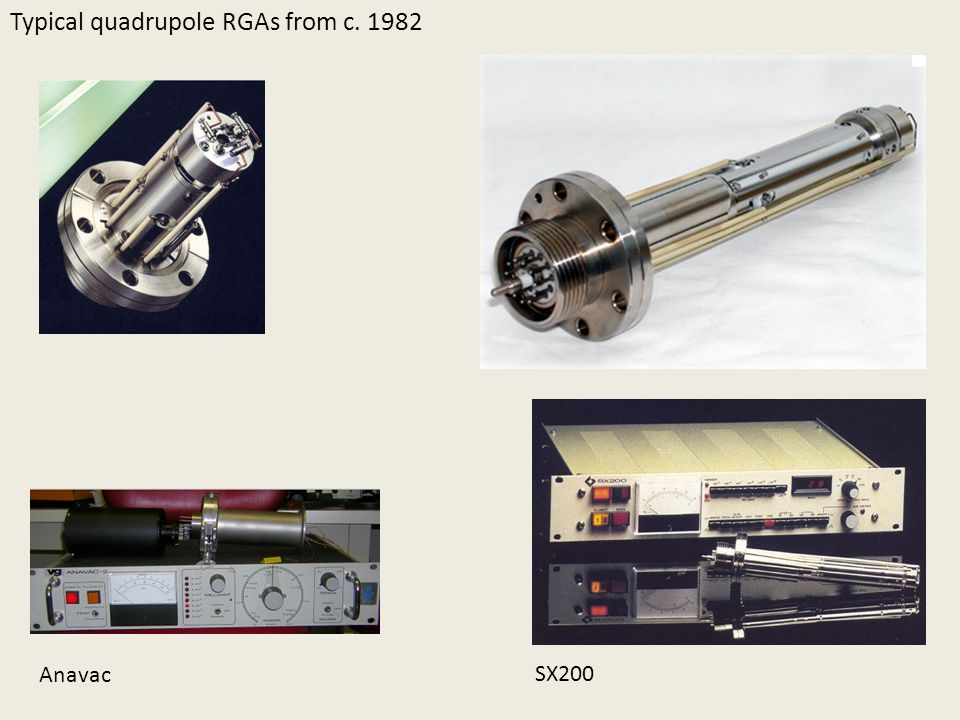 Typical quadrupole RGAs from c. 1982