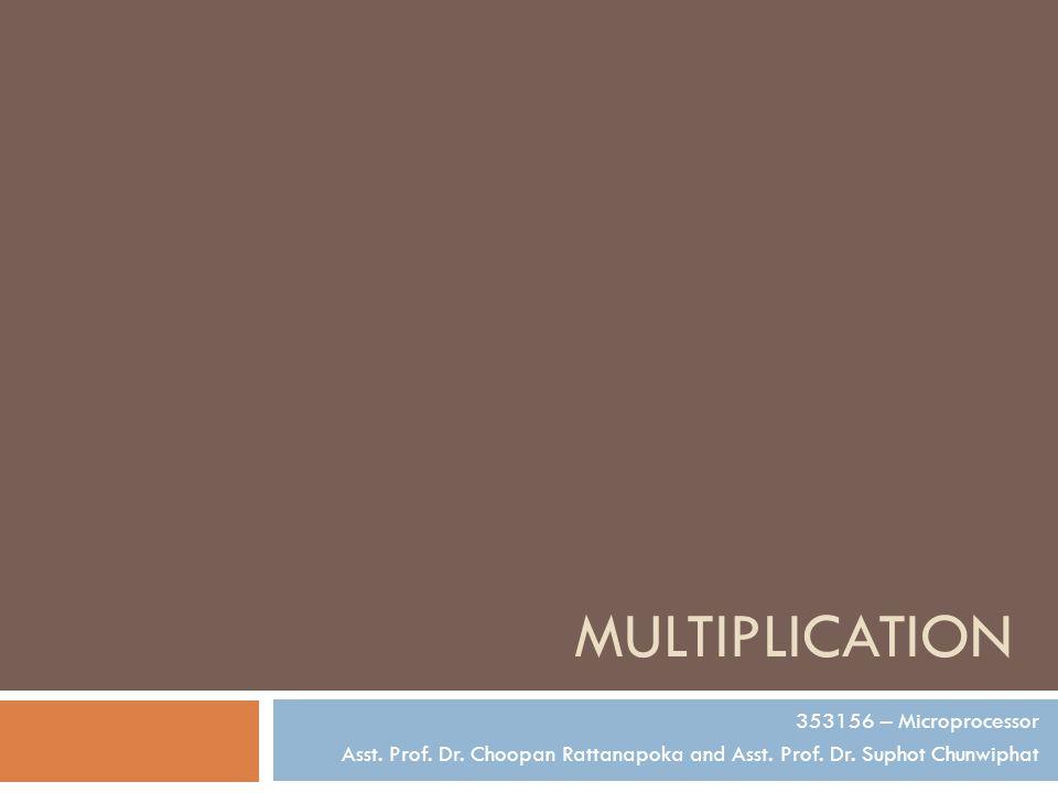 Multiplication 353156 – Microprocessor