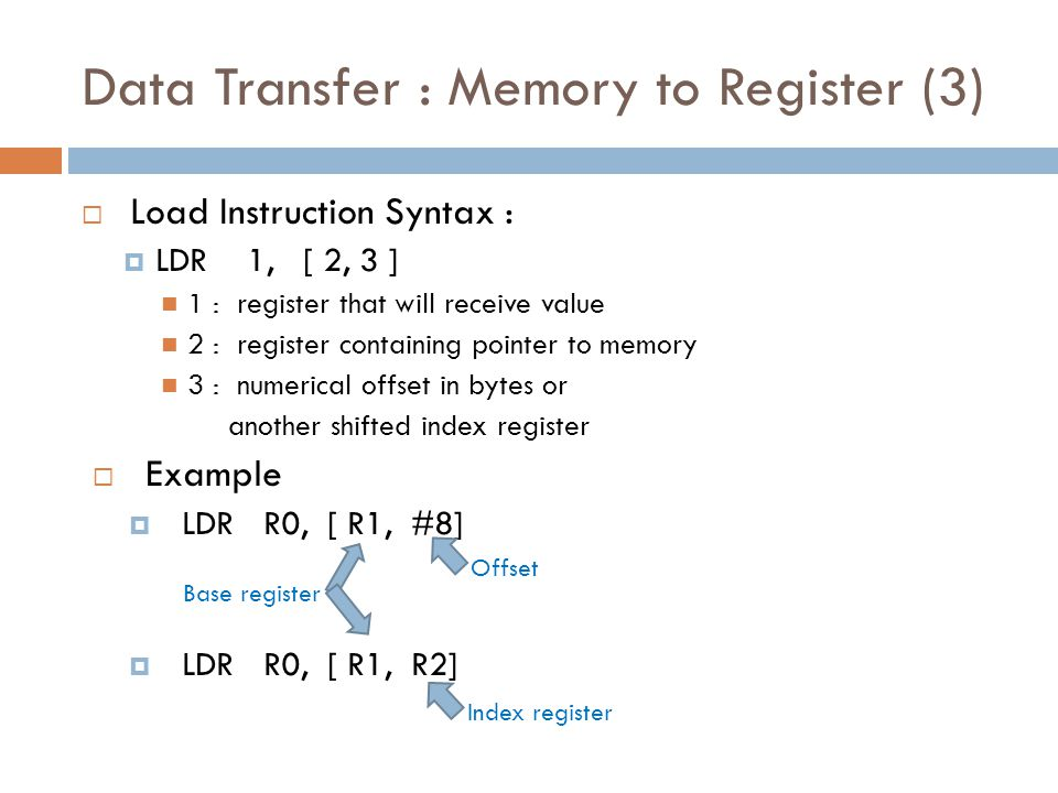 Data Transfer : Memory to Register (3)