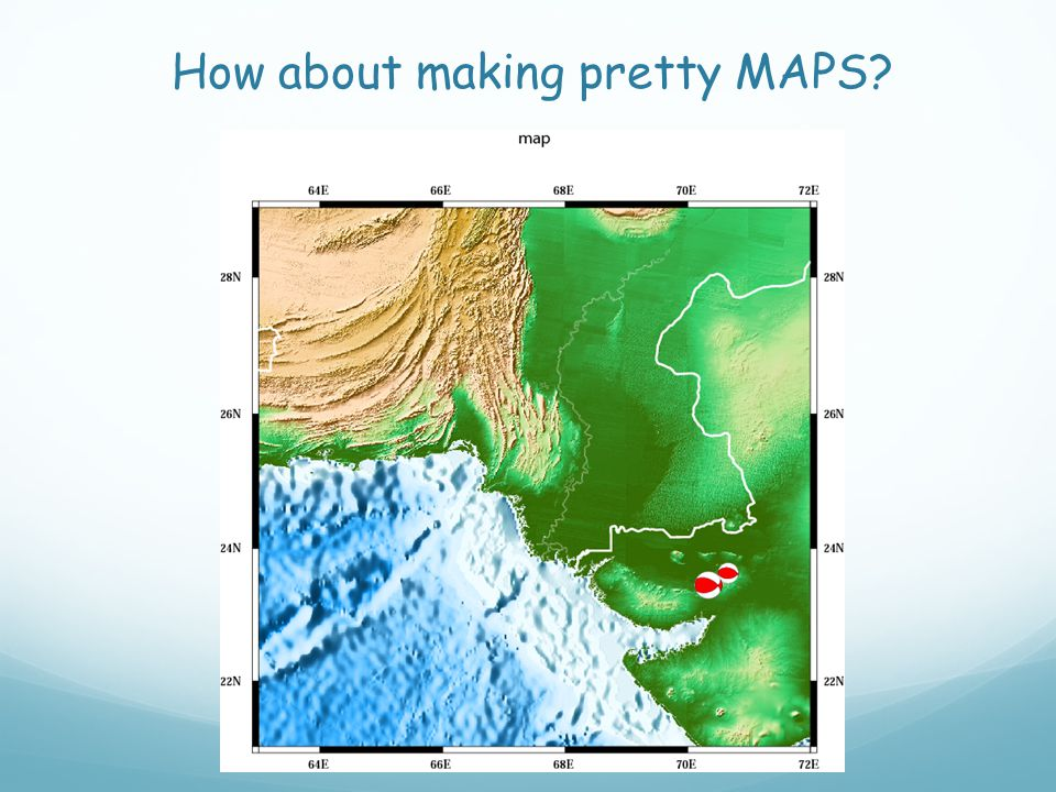 How about making pretty MAPS