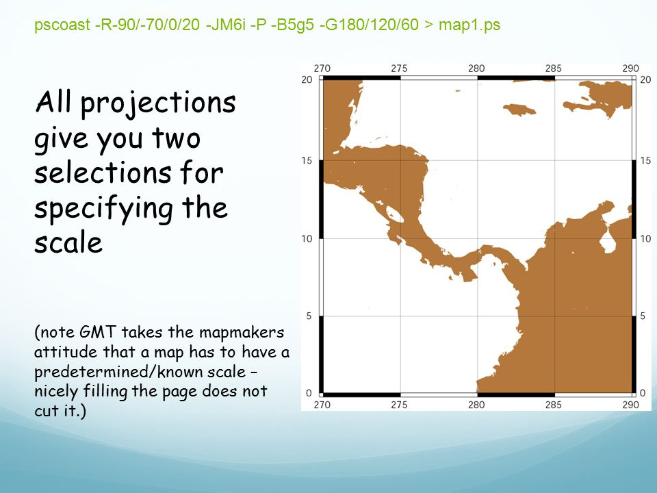 All projections give you two selections for specifying the scale