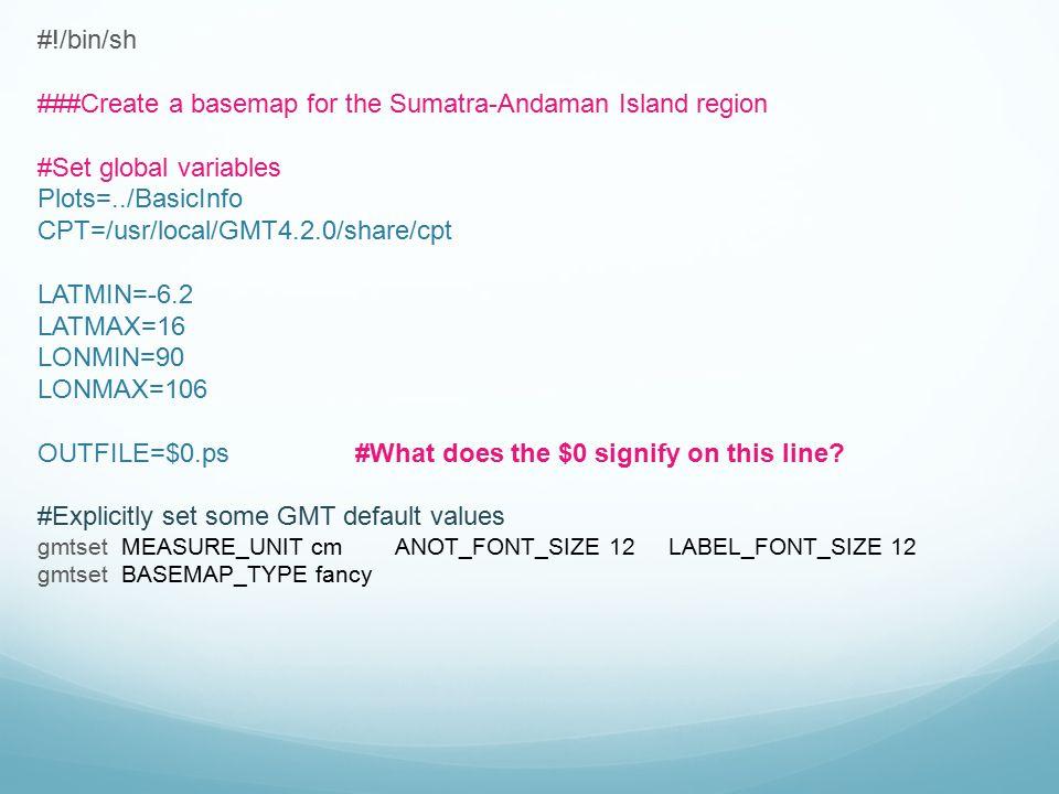 ###Create a basemap for the Sumatra-Andaman Island region
