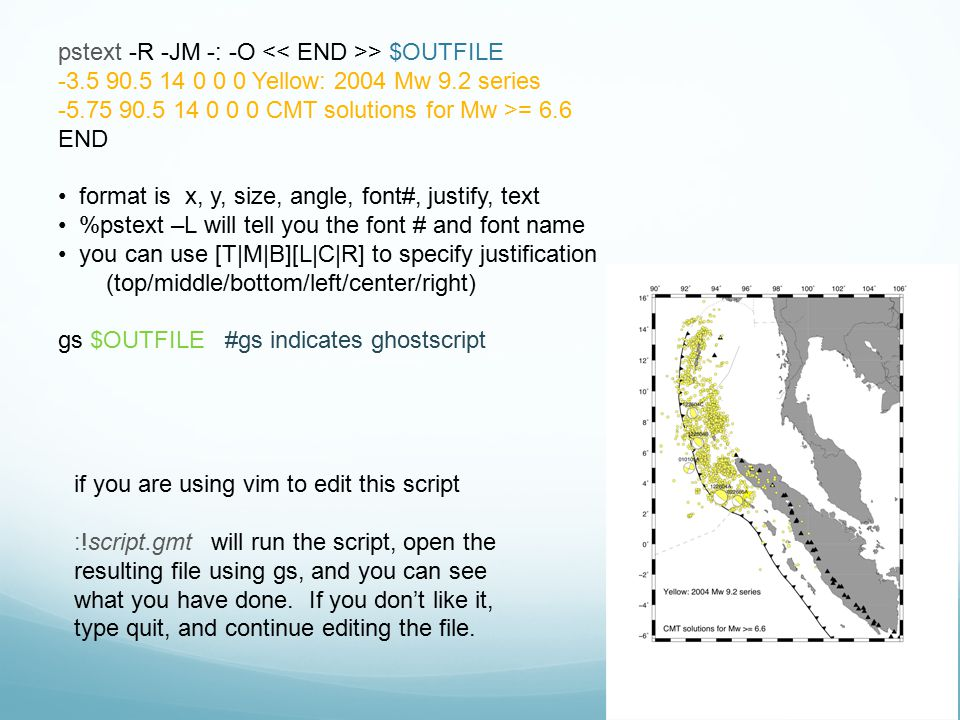 pstext -R -JM -: -O << END >> $OUTFILE