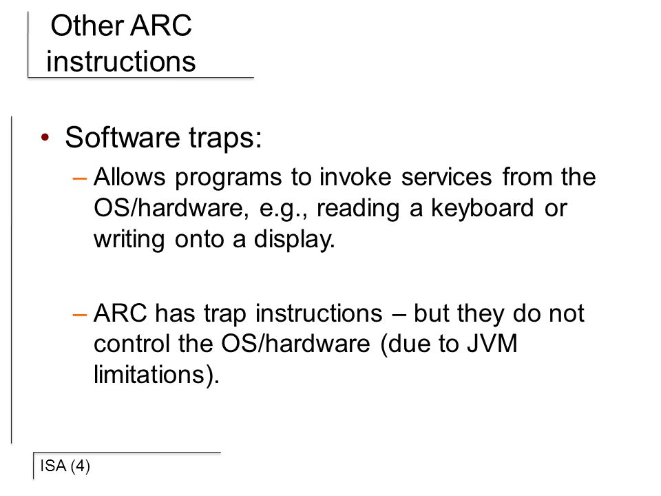 Other ARC instructions