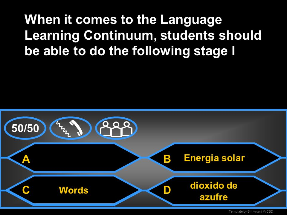 When it comes to the Language Learning Continuum, students should be able to do the following stage I