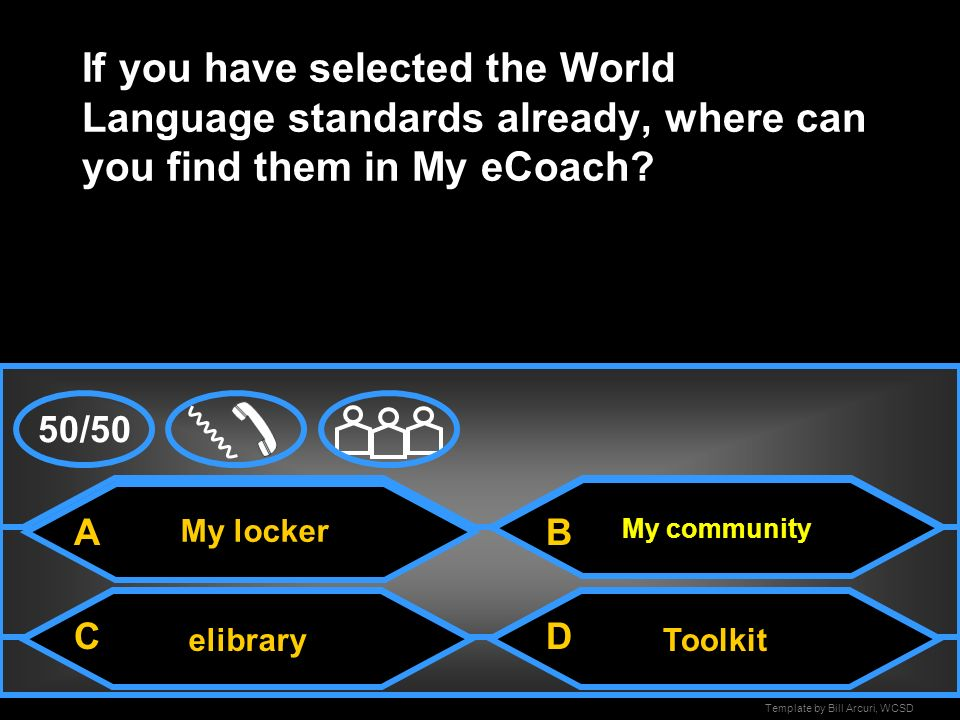 If you have selected the World Language standards already, where can you find them in My eCoach