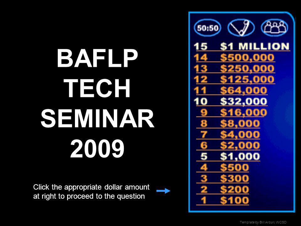 BAFLP TECH SEMINAR 2009 _________________________