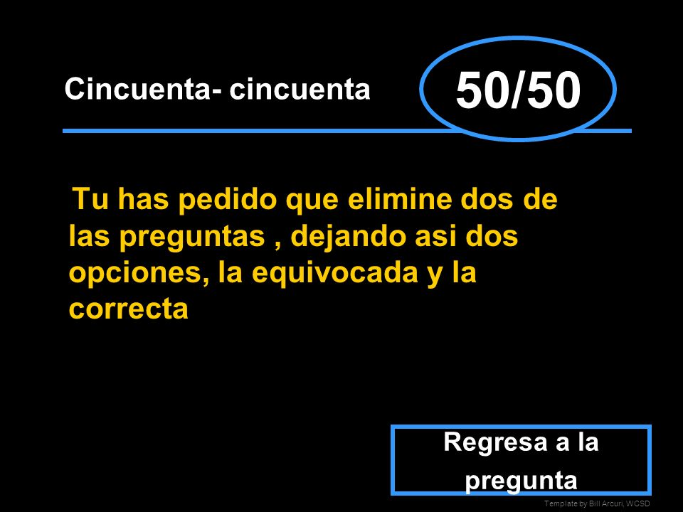 50/50 Cincuenta- cincuenta