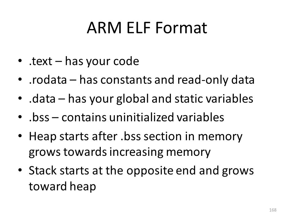 ARM ELF Format .text – has your code