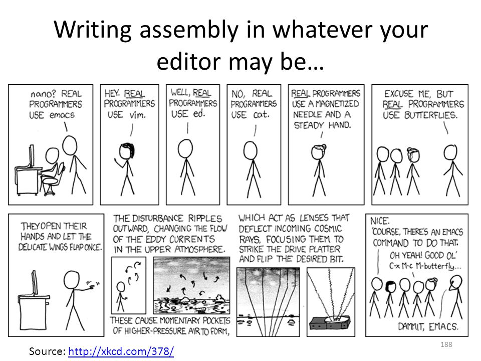Writing assembly in whatever your editor may be…