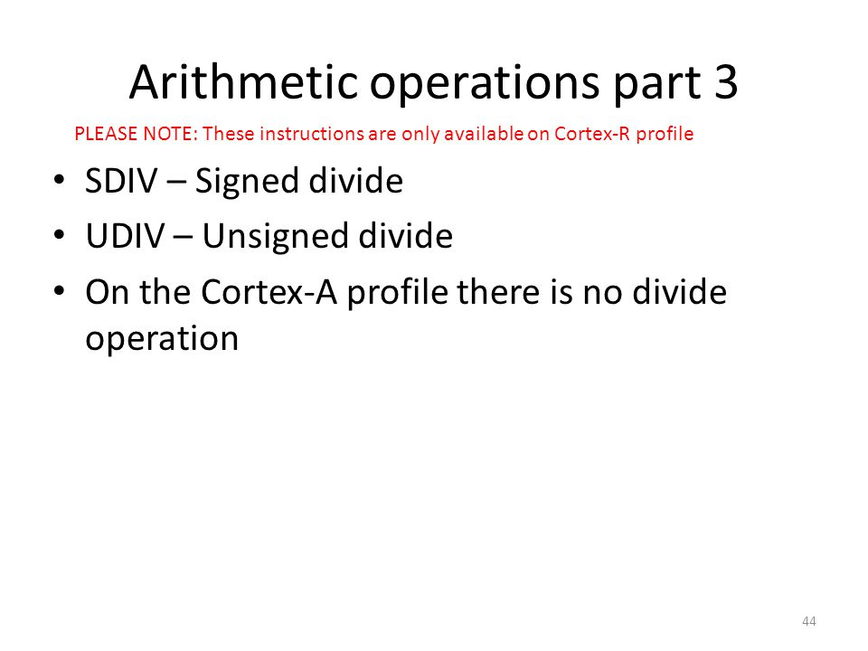 Arithmetic operations part 3