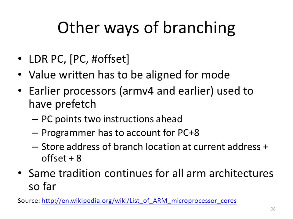 Other ways of branching