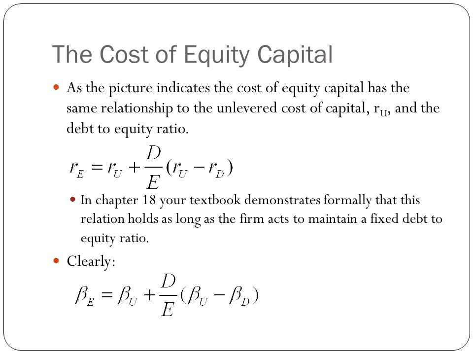 How to Calculate Unlevered Cost of Equity  - kadedwealthsuc ml
