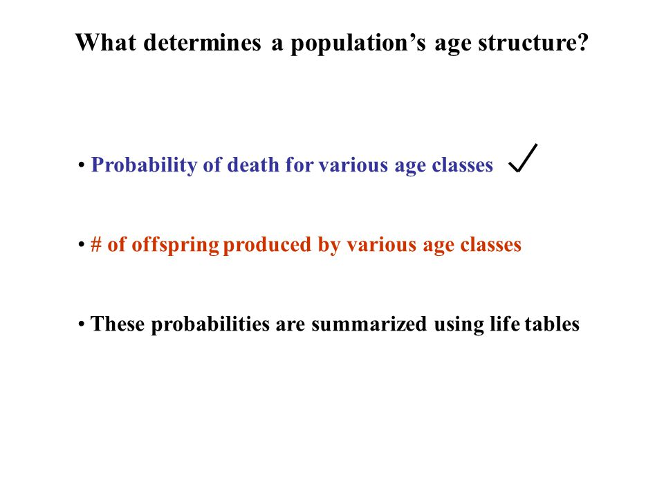 What determines a population's age structure