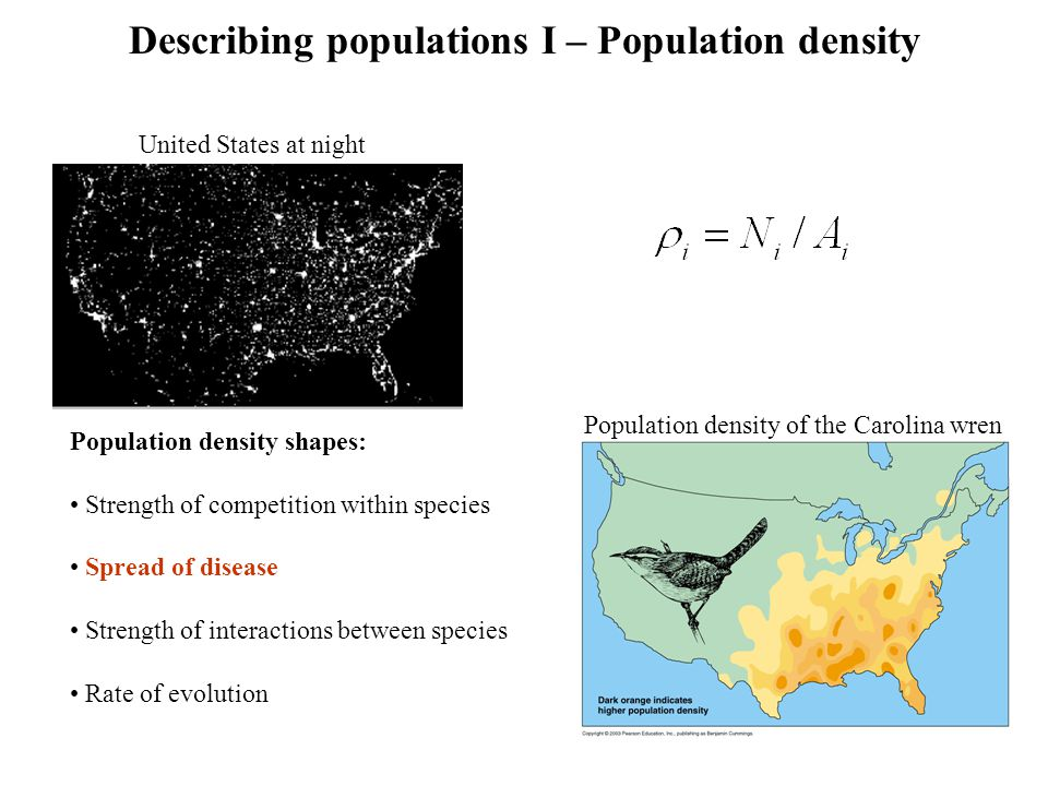 Describing populations I – Population density
