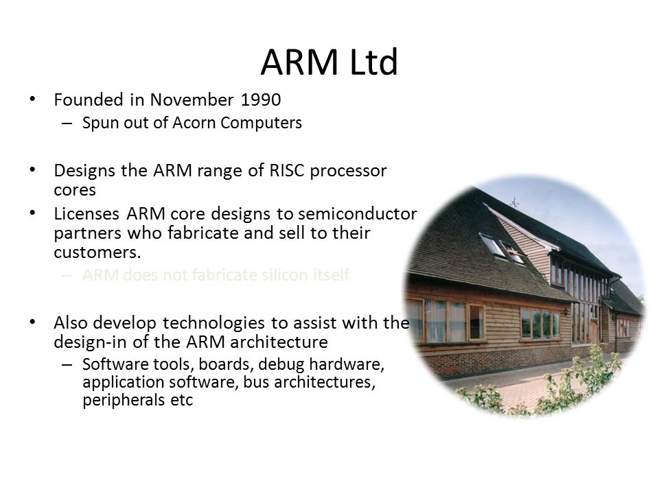ARM Ltd Founded in November 1990