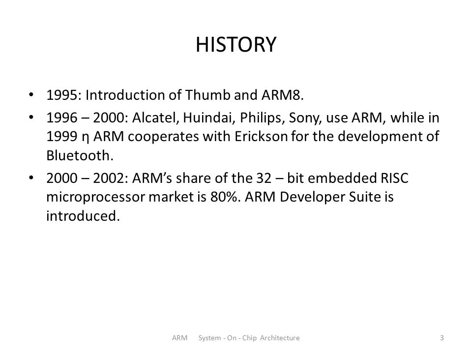ARM System - On - Chip Architecture